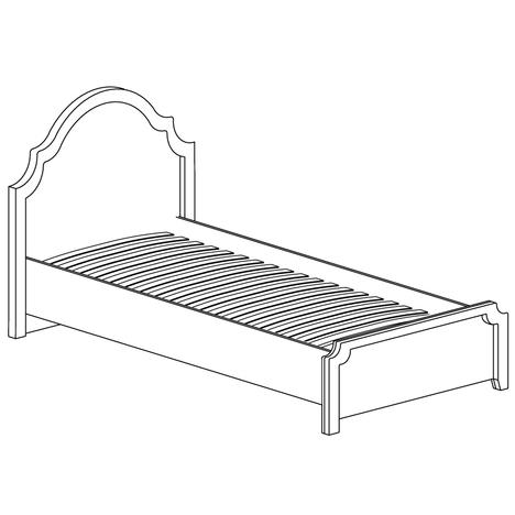 Кровать одинарная 900 мм Прованс 414