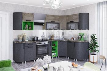 Модульная кухня Крафт бетон-дуб эндгрейн