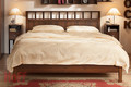 Кровать Люкс 1600 с ортопедическим основанием Шерлок орех